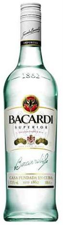 Bacardi Light Rum Silver